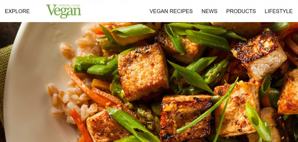 Vegan Food and Living homepage