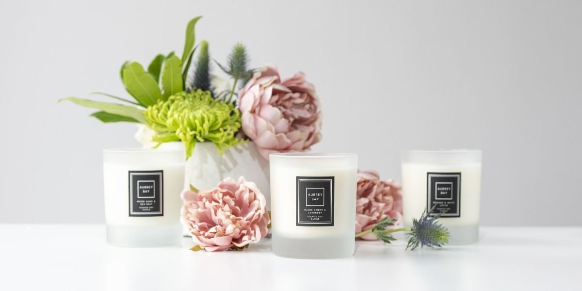 natural candles by Aubrey Bay